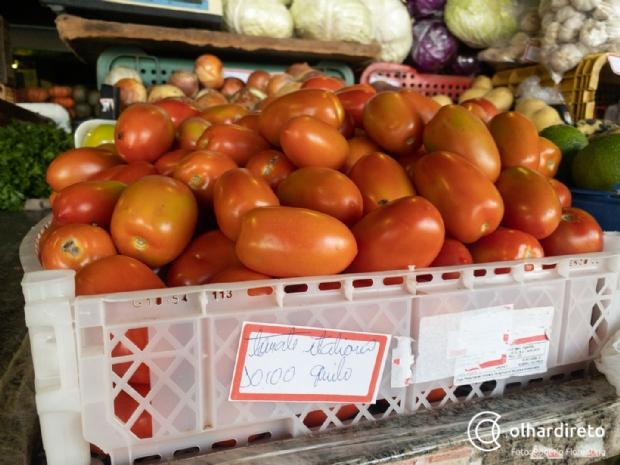 Quilo do tomate chega a custar R$ 10 em Cuiabá; inflação nas hortaliças sobe